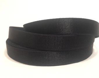 1/3/5/10 Yards - 15mm Black Bra Strap Elastic DIY Lingerie, Intimates, Bra Making