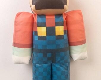 Super Mario Minecraft Plush Toy