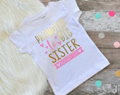 Promoted to big Sister shirt personalized big sister shirt big sister announcement new arrival big sister shirt little sister shirt shirt