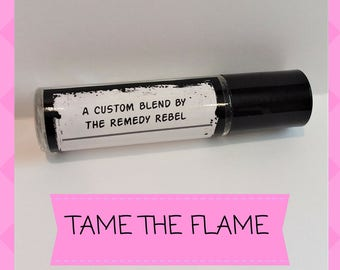 Tame The Flame, Essential Oil Roller Bottle, Women's Balance, Hot Flashes, Aromatherapy, PMS, Menopause