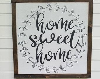 Large Sign - Home Sweet Home - Farmhouse Sign - Rustic Wood Sign - Farmhouse Decor