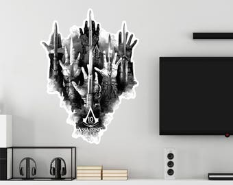 Assassin's Creed Hidden Blade Weapons Wall Decal Officially Licensed by Ubisoft