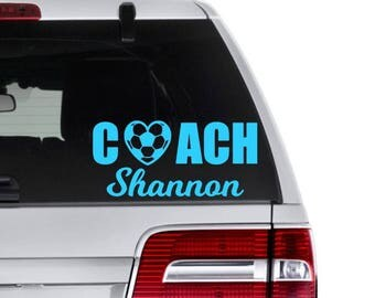 Personalized Coach Decal, Soccer Coach Decal, Softball Coach Decal, Gift for Coach, Baseball Coach Gift, T Ball Coach Gift, Coach Thank You