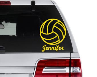 Volleyball Decal, Sports Decal, Volleyball Team Gift, Custom Volleyball Decal, Volleyball Coach Gift, Volleyball Gift, Sports Party Favors