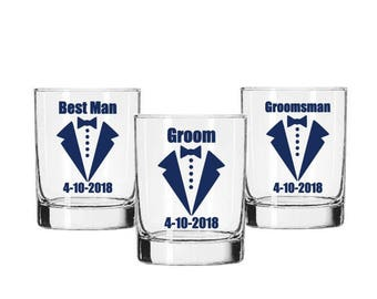 Groomsman Decal, Groom Decal, Best Man Decal, Beer Mug Decal, Bachelor Party Favors, Groomsman Gifts, Wedding Glass Decals, Wedding Favors