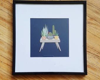 The Plant Collection - Framed Paper Art 8.25in x 8.25in
