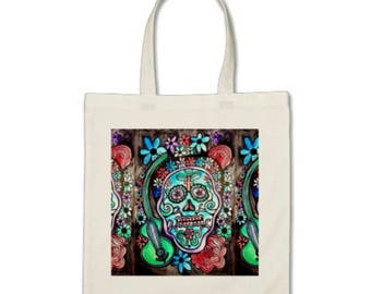 Day of the Dead Original Art Tote Bag