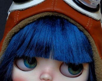 Ooak Custom Blythe Doll: Amelia the aviator - Free shipping