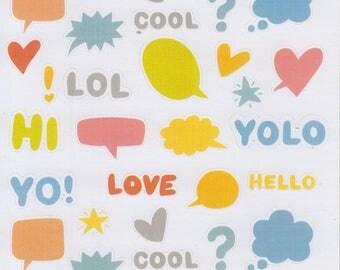 Random Shapes and Words | 075 | Planner Sticker | Happy Planner | Kikki-K | Erin Condren