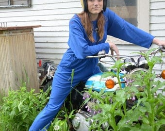 1980s Blue Sweatsuit Jumper