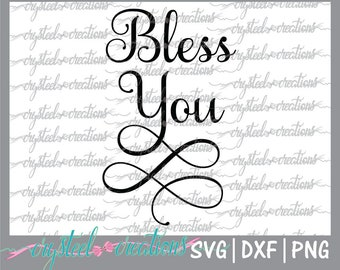 Bless You SVG, PNG, DXF Silhouette Cut, Christian svg, Instant Download, Cut Files, Cricut, Samantha Font, Bless You Jars