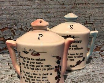 Vintage My House Pitcher Salt & Pepper Shakers