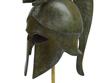 Corinthian Bronze helmet with Serpents - Ancient Greece - Medium size