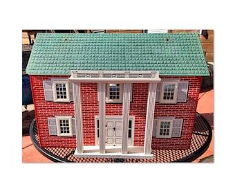 Rich Toy Co. of Boston Red Brick Keystone Dollhouse
