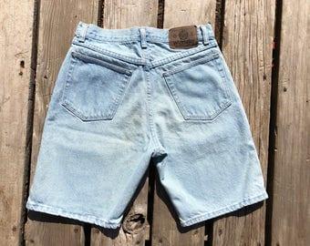 "Wrangler 28"" Light Wash High Waisted Vintage Shorts"