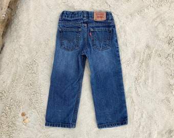 "Levi's 549 Kid's Sz 3T Red Tab Medium Wash 20"" Vintage Jeans"