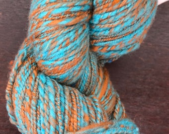 Larger Cormo Thai Iced Tea Handspun yarn