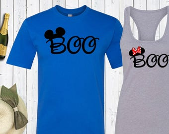 Halloween Disney Boo Shirt. Matching Disney Family Shirts. Halloween Boo Shirt. Matching Shirts. Disney Couples Shirt. Halloween shirt.