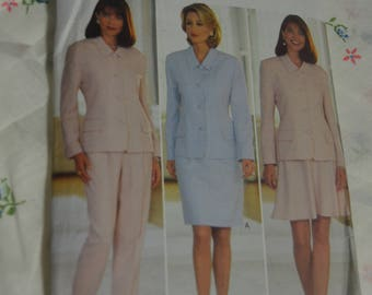 Butterick 3852 Misses / Misses Petite Jacket Skirt and Pants Sewing Pattern - UNCUT - Size 6 8 10 or Size 12 14 16