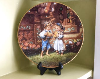 Hansel and Gretel Knowles Collector Plate - Classic Fairy Tales