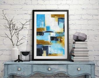 XXL 20 x 30 print digital download printable wall decor colorful print abstract modern art home decor contemporary artwork design