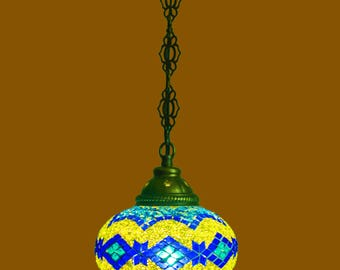 Accent lamps,pendant lamps,Mosaic Turkish lamps,handcrafted,glass beads lamp,moroccan,glass lamp,stained glass,turkish chandelier,authentic