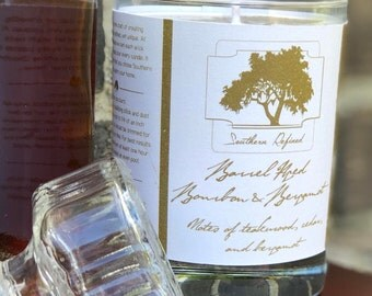 Barrel Aged Bourbon and Bergamot 11.25 ounce Single Wick Candle