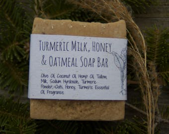 Turmeric Milk and Honey Oatmeal Soap Bar