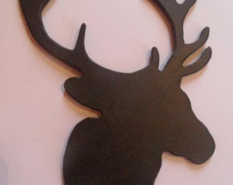 T te de cerf etsy for Decoration murale tete de cerf