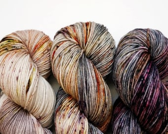 DYED TO ORDER - Coven - Set of Five Skeins - Hand Dyed Yarn - Fade Kit