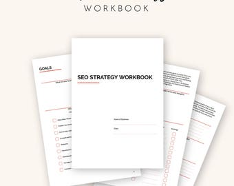 SEO Strategy, seo help, seo planner, seo Optimization for Small Business Owners | Printable - A4