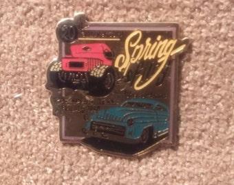 20th Anniversary Spring Fling Rosenberg Texas, April 1998, Car Show Enameled Hat-Lapel Pin - Vintage