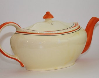 "Sebring Pottery Yellow Teapot ""Golden Maize"" Collection From 1927"