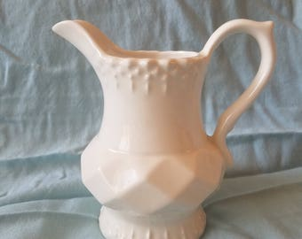 Unique Ironstone creamer or pitcher