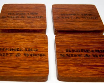 Wooden Drink Coasters - Angelin