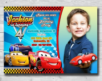 Cars 3 Invitation-Disney Cars 3 Invitation-Disney Cars Birthday Party-Cars Invite-Disney Cars 3 Printable-Disney Cars-Cars 3 Digital Cards