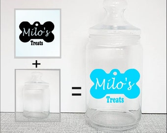 Dog treats,jar label, vinyl decal, personalised treat jar, pet treats, pet storage, pet treats, dog treats, pet gifts, treat storage