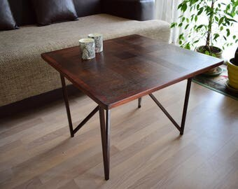 Coffee Table, Reclaimed Wood Coffee Table, Square Coffee Table, Wooden