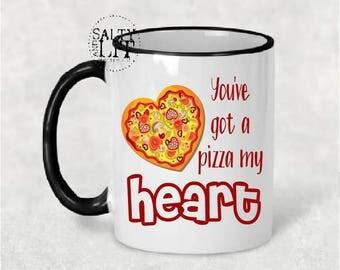 pizza my heart mug,pizza my heart,pizza mug,pizza lover,funny mug,funny gift,funny sayings mug,coffee gifts,heart mug,coffee cup,coffee mug