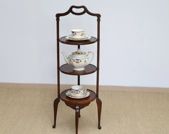 Antique Cake Stand, Vintage Cake Stand, Edwardian Cake Stand, Wooden Cake Stand, Cake Display Stand