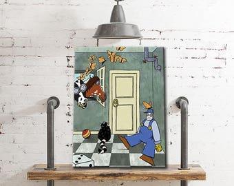 digital print download-FARM IN HOUSE-kids wall art,childrens art