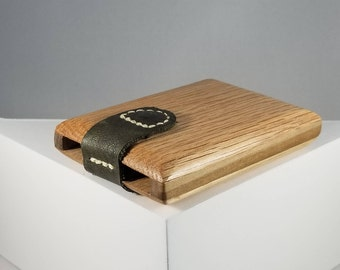 Wooden Wallet / Business Card Holder (Oak and Poplar)