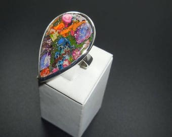 Sea Sediment Jasper  925 Sterling  Silver Ring