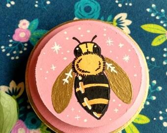 Pink Metallic Honey Bee