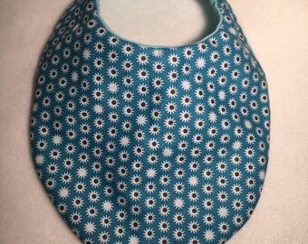blue print bandana bib
