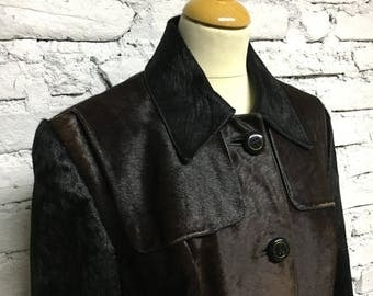 """""""Cowgirl"""" cowhide leather coat"""