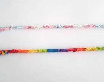 Rainbow and LGBT+ Pride Friendship Woven Bracelets