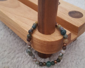 beaded bracelet - earthy tones