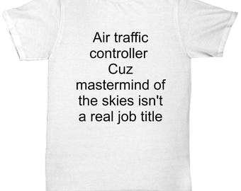 Air Traffic Controller T-Shirt Mastermind of the Skies Funny Air Traffic Control Gift