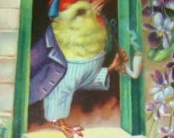 Vintage Easter Postcard (Chick)